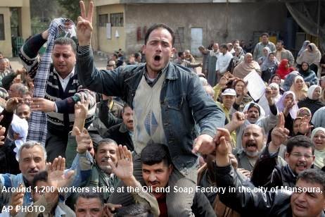 Suez workers strik